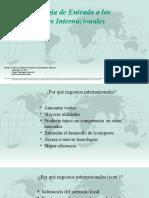 Estrategia de Entrada a Los Negocios Internacionales