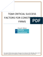 Critical Success Factors for Construction Industry to Implement TQM