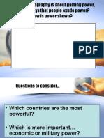 Political Geo - Lesson 5