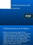 Relations of Political Science With Other Social Sciences