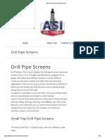 ASI Oil Tools _ Drill Pipe Screens