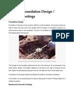 Foundation & Column Design
