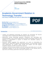 Academic-Government Relation in Technology Transfer