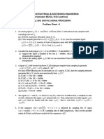 DSP Problem Sheet 1