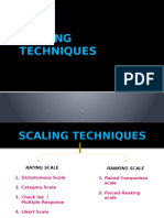 Scaling Techniques