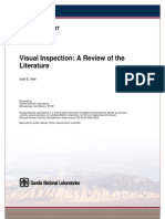 Visual Inspection - A Review of the Literature