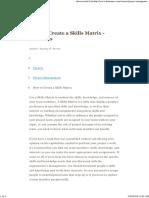 How to Create a Skills Matrix - Dummies