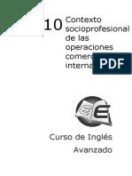Tema 10_Contexto Socioprofesional de Las Operaciones Comercio Internacional