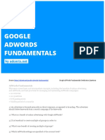 Google Adwords Fundamentals Exam by AdCerts