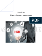Human Resource Sample from Assignment Desk