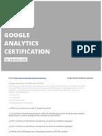Google Analytics Exam by AdCerts