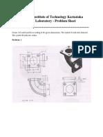 CAD Lab Problem Sheet II