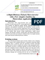 A High-Efficiency Flyback Micro-Inverter With a New Adaptive Snubber for Photovoltaic Applications