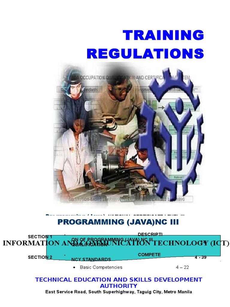 TR - Programming (Java) NC III | Competence (Human Resources ...