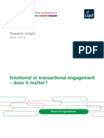 Emotional or Transactional Engagement CIPD 2012