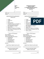 Physician Checklist Assessment