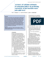 The Accuracy of Calcium-carbonatebased Saturation Indices in Predicting the Corrosivity