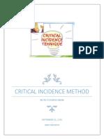 Critical Incidence Method