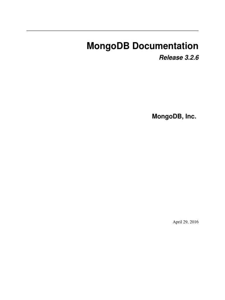 MongoDB Manual Master | Mongo Db | Json