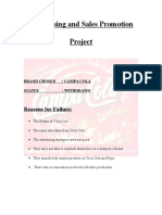 Advertising and Sales Promotion Project