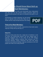 Know About Built-up Roof Membranes - Chicago roofing contractor