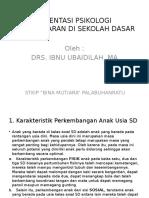 Orientasi Psikologi Pembelajaran Di Sd, Smp &