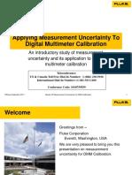 Uncertainty Presentation Digital Multimeter