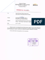 Memorandum M 16 203sports Training