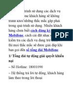 Cac So Tong Dai Mobifone Ho Tro Khach Hang