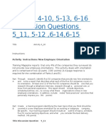 Activity 4-10, 5-13, 6-16 Discussion Questions 5_11, 5-12 ,6-14,6-15 - Assignments