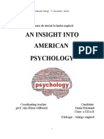 An insight into American Psychology
