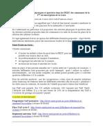 La Place Des Activités Physiques Et Sportives Dans Les PEDT Des Communes de La 1ère Circonscription de La Loire