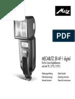 Mecablitz 58 AF 1 Digital Canon D F NL GB I E
