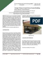 Earthquake Resistant Design Of Open Ground Storey Framed Building