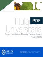Curso Universitario en Marketing Farmacéutico + 4 Créditos ECTS