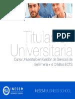 Curso Universitario en Gestión de Servicios de Enfermería + 4 Créditos ECTS