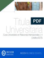 Curso Universitario en Relaciones Internacionales + 4 Créditos ECTS