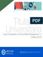 Curso Universitario en Social Media Management + 4 Créditos ECTS