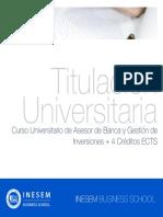 Curso Universitario de Asesor de Banca y Gestión de Inversiones + 4 Créditos ECTS