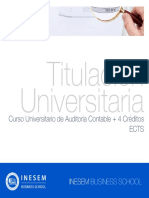 Curso Universitario de Auditoría Contable + 4 Créditos ECTS