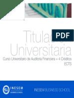 Curso Universitario de Auditoría Financiera + 4 Créditos ECTS