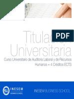 Curso Universitario de Auditoría Laboral y de Recursos Humanos + 4 Créditos ECTS