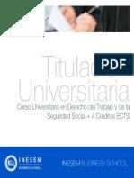 Curso Universitario en Derecho del Trabajo y de la Seguridad Social + 4 Créditos ECTS