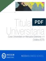 Curso Universitario en Mercados Exteriores + 4 Créditos ECTS