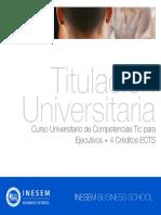 Curso Universitario de Competencias Tic para Ejecutivos + 4 Créditos ECTS