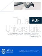 Curso Universitario en Marketing Deportivo + 4 Créditos ECTS