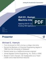 ISA Applying ISA101 to Existing HMIs MikeHawrylo