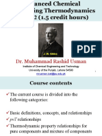 Advanced Chemical Engineering Thermodynamics 31 July 2016