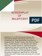 MALEFICENT SCREENPLAY.ppt