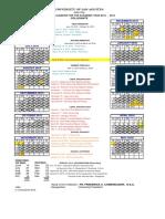 USA School Calendar AY '15-'16